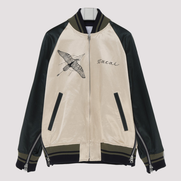 Hawk embroidered bomber jacket