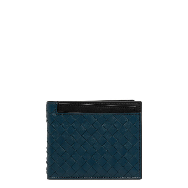 Blue Billfold in intrecciato VN wallet