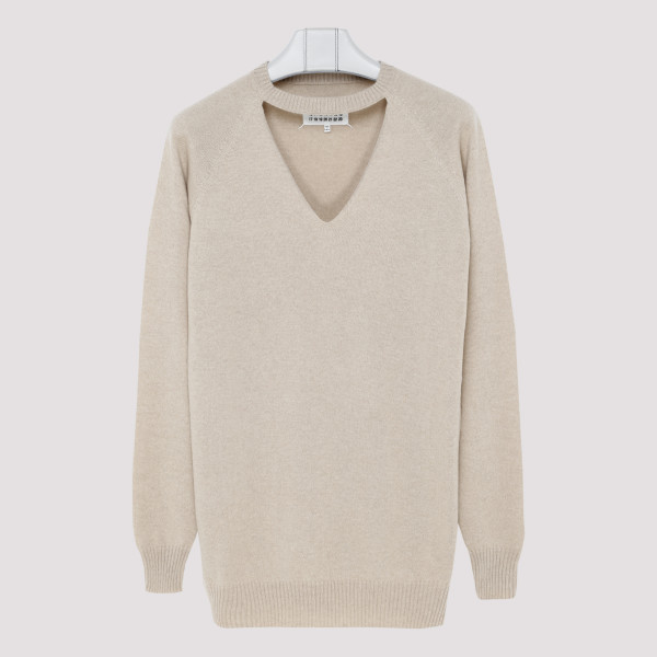 V Neck Oversized Knitted...