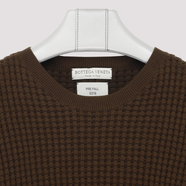 Military Green Waffle-knit Sweater