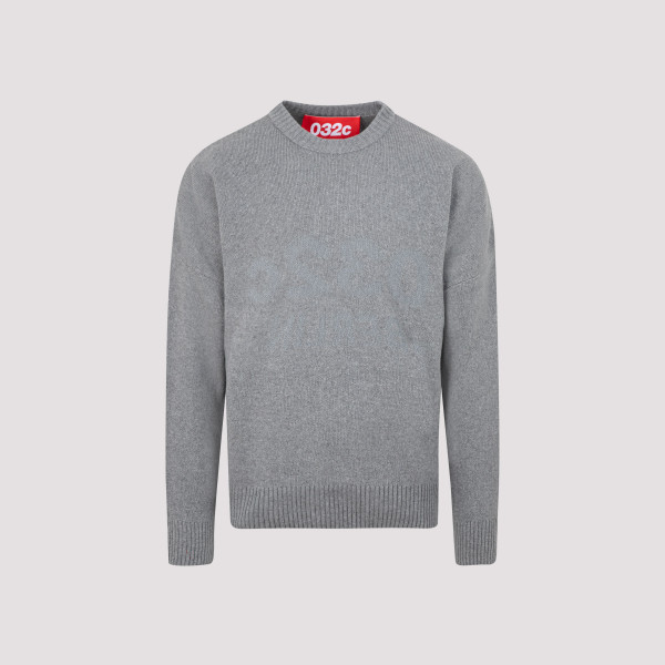 032C Gray wool Knit Pullover