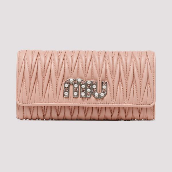 3215bac85ad Pink Matelassé nappa leather wallet