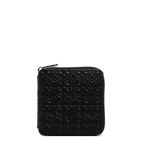 Black Square Zip WalletBlack