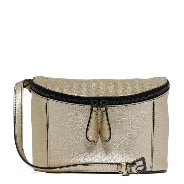 Golden intrecciato belt bag