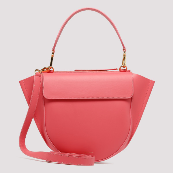 Coral leather Hortensia Medium bag