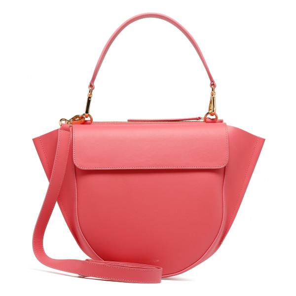 Coral leather Hortensia Medium bag
