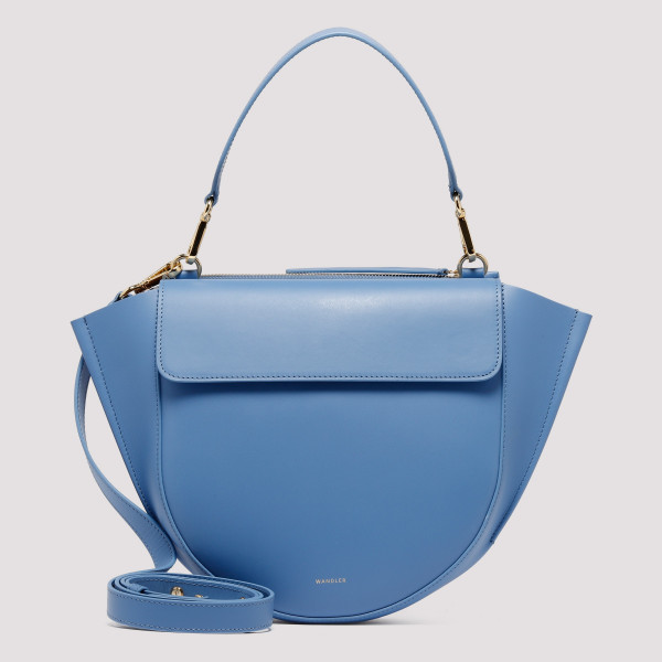 Horizon blue leather Hortensia Medium bag