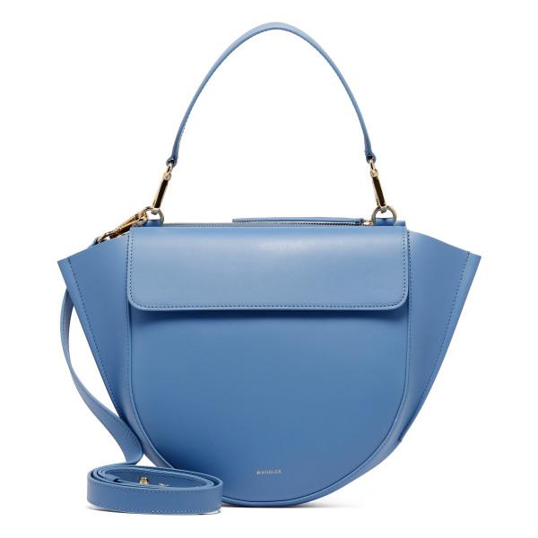 Horizon blue leather Hortensia Medium bag