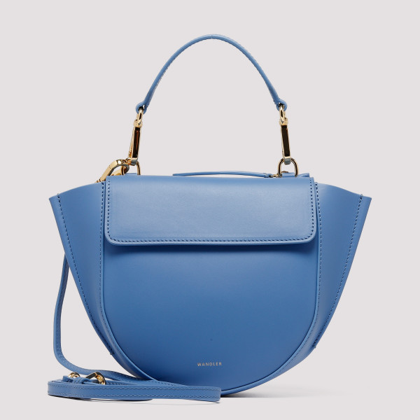 Horizon blue leather Hortensia Mini bag