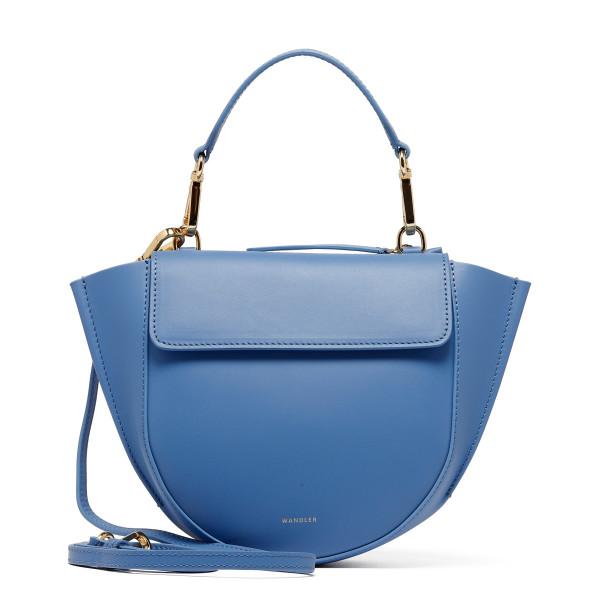 Horizon blue leather Hortensia Mini bag