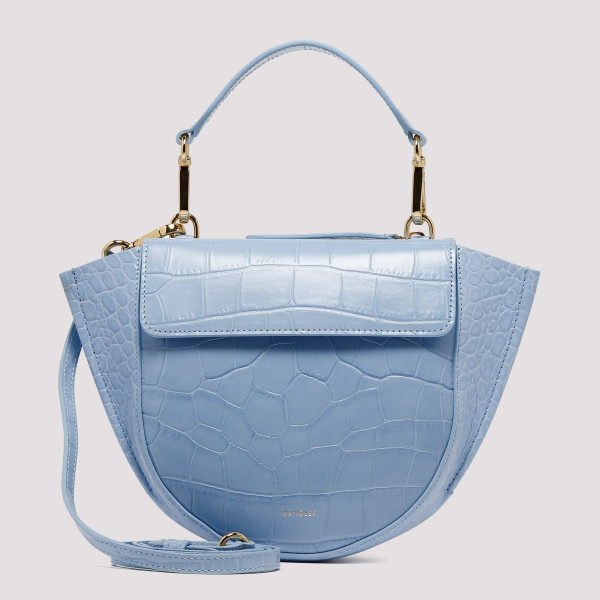Blue croco leather Hortensia Mini bag