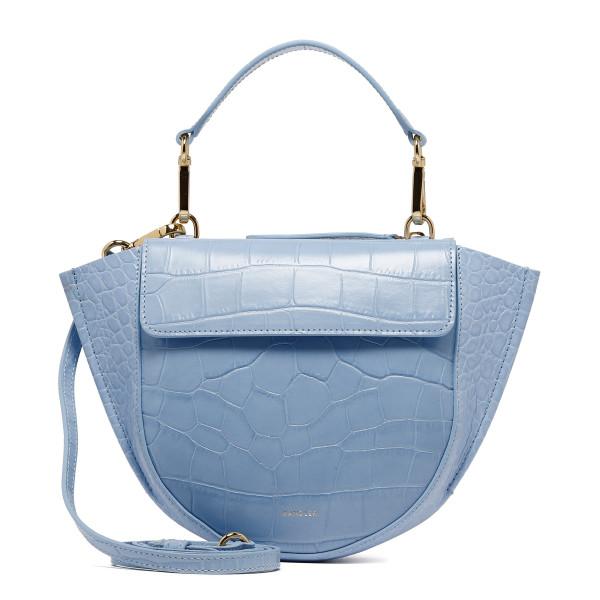 Blue croco leather Hortensia Mini bag