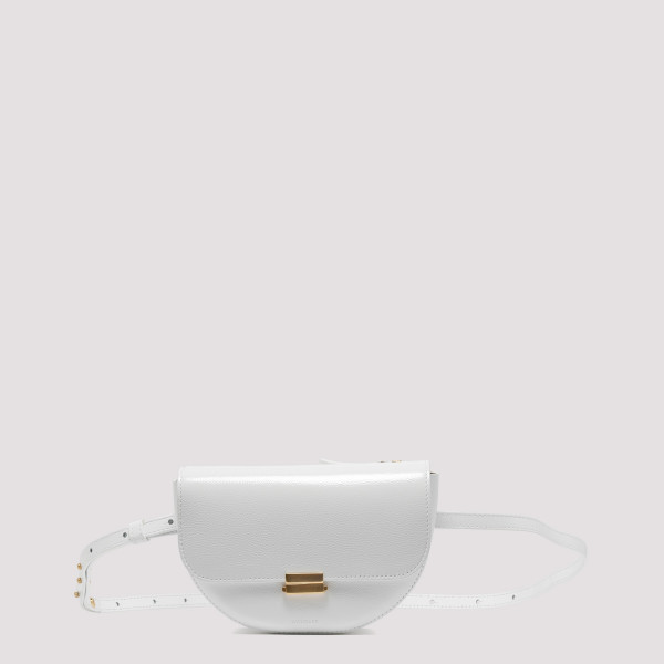White leather Anna belt bag
