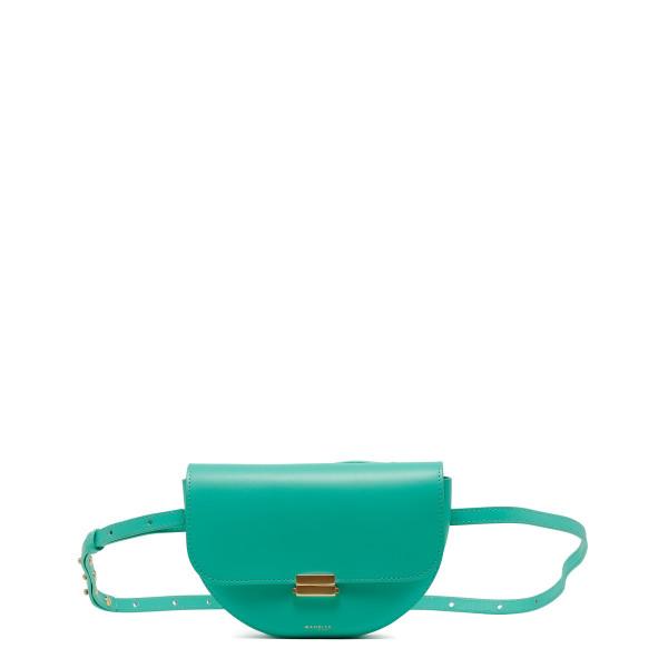 Green leather Anna belt bag