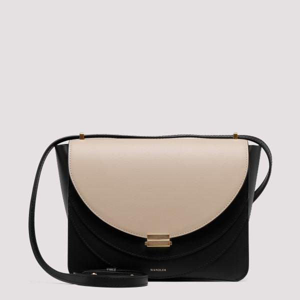 Luna black and sand shoulder bag