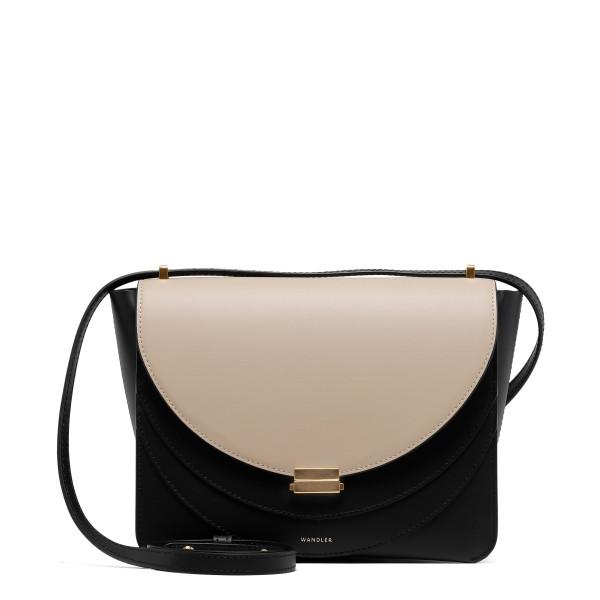 Luna black and sand shoulder bag