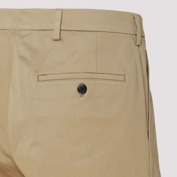 Beige Cotton Chino Shorts