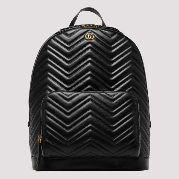 456f7fc412 GG Marmont black backpack