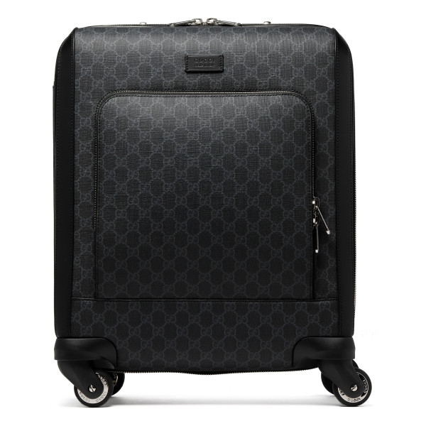 GG Supreme black suitcase