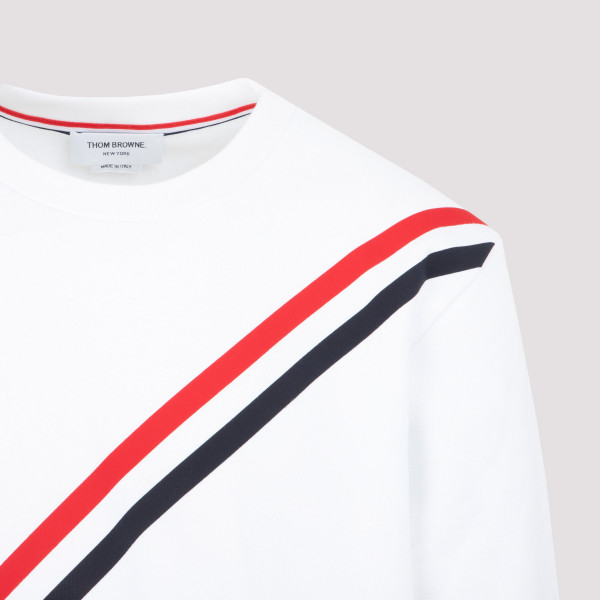 Thom Browne Relaxed Fit Crew Neck Sweatshirt