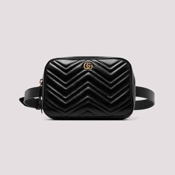 cbb55ee9898 GG Marmont black leather bag