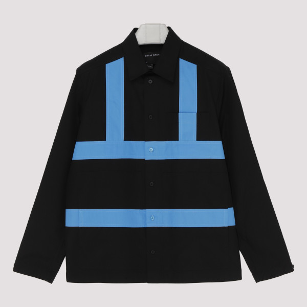 Black cotton shirt with...