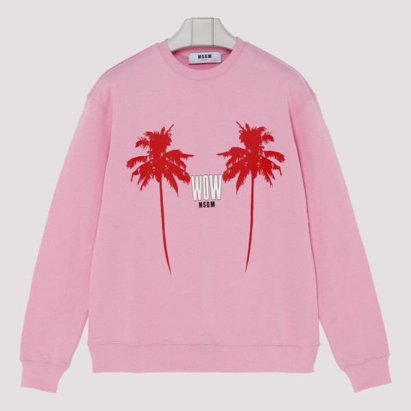 Palms pink cotton sweatshirt