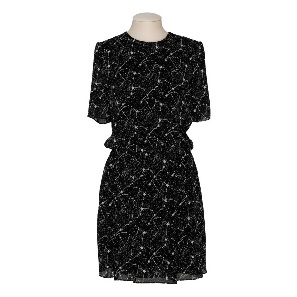 Constellation black viscose dress