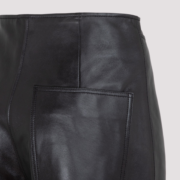 Totême Wide Leather Trousers