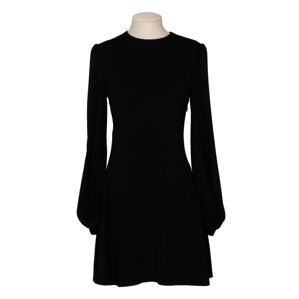 Black crepe mini dress