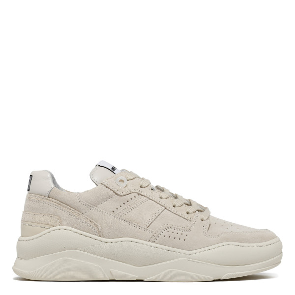 White Thick Sole Laced Low Trainers