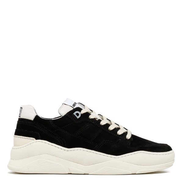 Black Thick Sole Laced Low Trainers