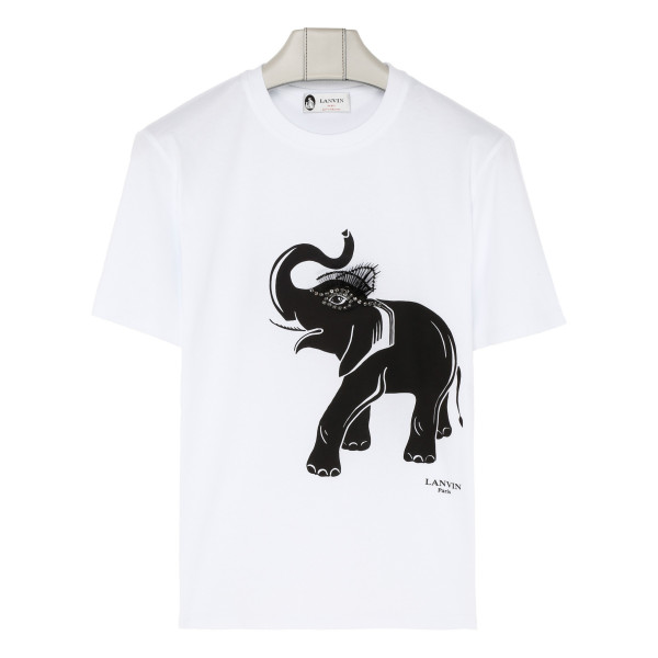 White cotton Elephant T-shirt