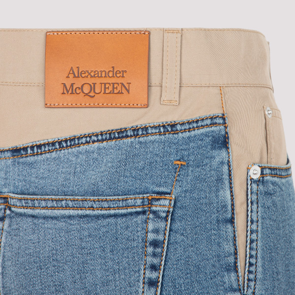 Alexander McQueen Fitted Stretch Jeans