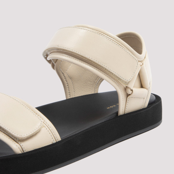The Row Hook and Loop Sandals