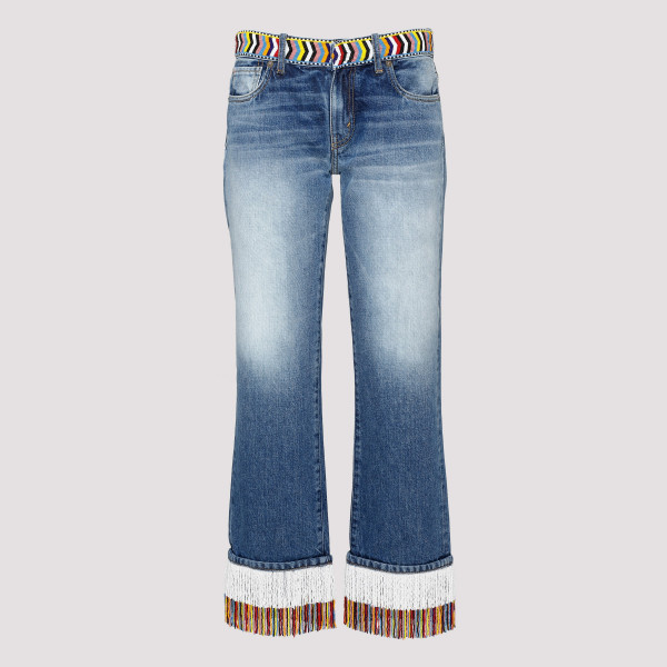 Blue boyfriend jeans with...