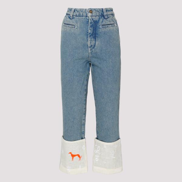 Fisherman Logos Indigo Jeans