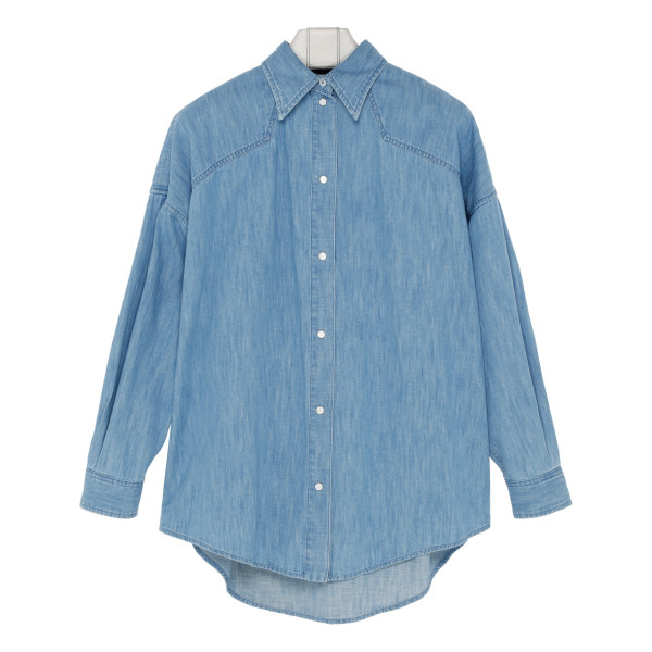 Tiger face logo denim shirt