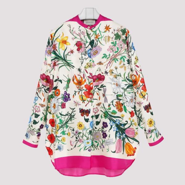 Oversize shirt with Flora...