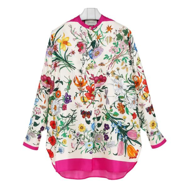 Oversize shirt with Flora print
