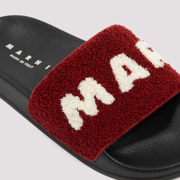 Marni Logo Embroidered Terry Slippers