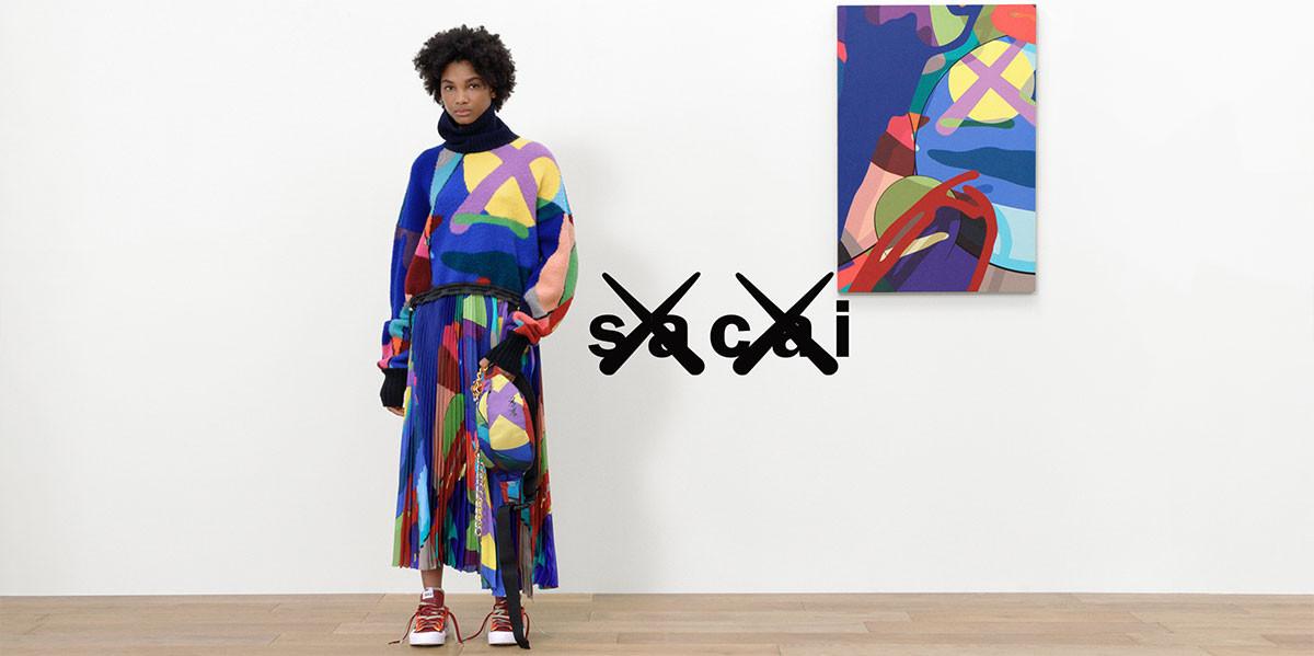 The launch of Sacai x KAWS RTW collection