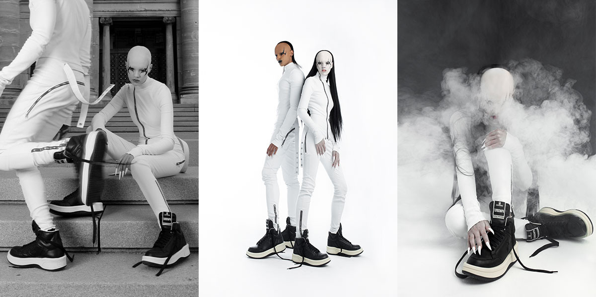 RICK OWENS DRKSHDW DISTORTS THE CONVERSE WEAPON